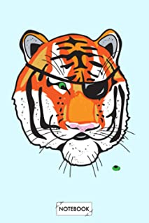 Eye Of The Tiger Notebook: 6x9 120 Pages, Lined College Ruled Paper, Journal, Matte Finish Cover, Planner, Diary