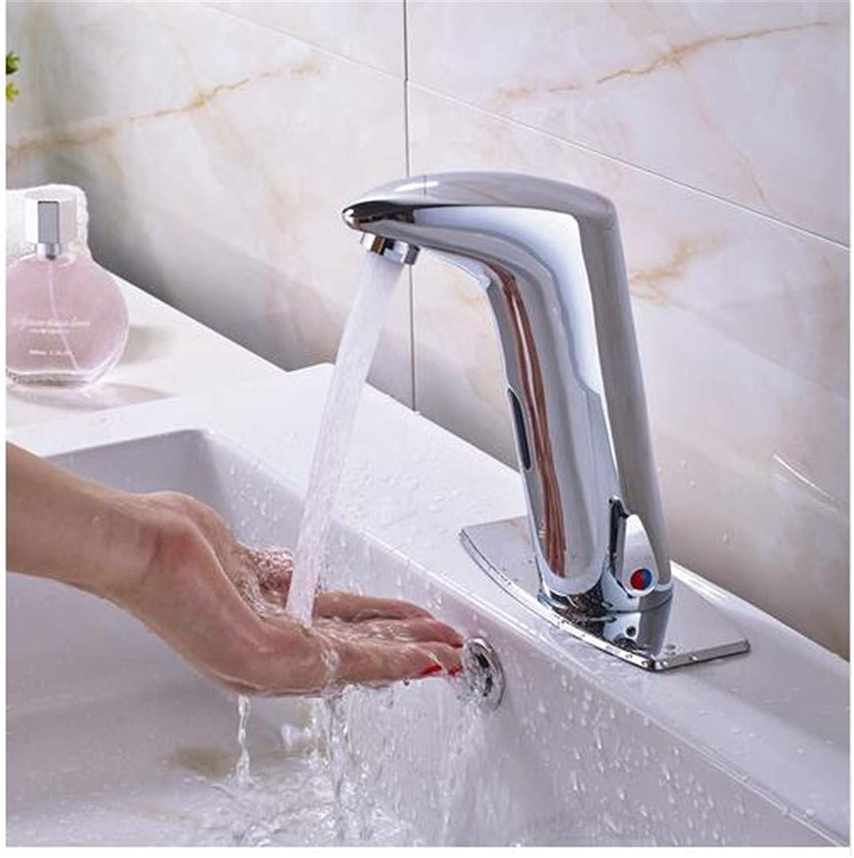 Retro Hot and Cold Faucet Retredall Bathroom Sensor Faucet Mixer Tap Deck Mount Hot and Cold Water