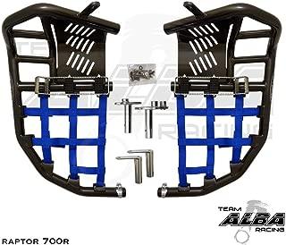Yamaha Raptor 700 Raptor 700R (2006-2019) YFM 700 (2013-2019) Propeg Nerf Bars Black Bars w/Blue Net