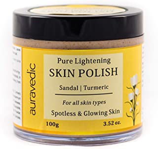 Auravedic Skin Lightening Polish With Sandalwood & Turmeric, 100g