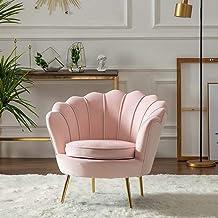 Armchair Lounge Chair Single Sofa Chair Modern Bedroom Living Room Clothing Beauty Shop Gold Velvet Chair 55 * 78Cm,Pink