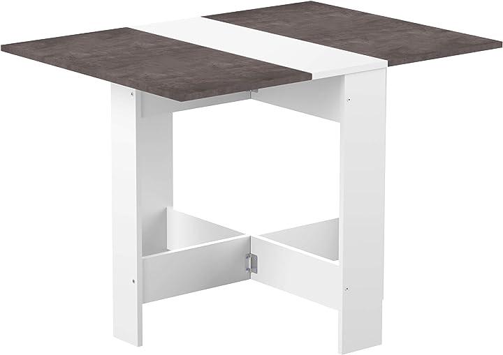 Tavolo pieghevole, bianco, 73.4 x 103 x 76 cm  symbiosis trick 13CAS