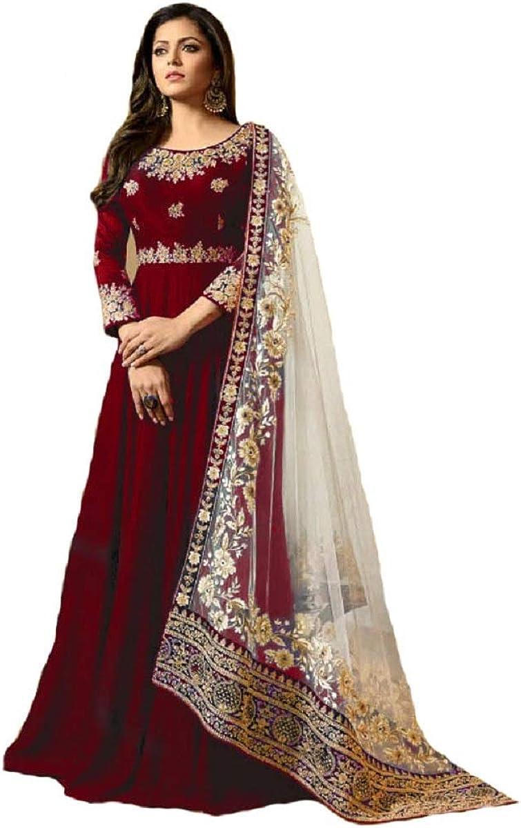 Delisa New Desiner Indian/Pakistani eid Special Ethnic/Partywear wear Anarkali Gown for Women LT