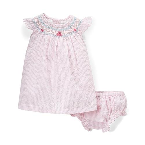 9cf0398f5 Phlona Baby Girls' Bishop Smocked Dress Pink