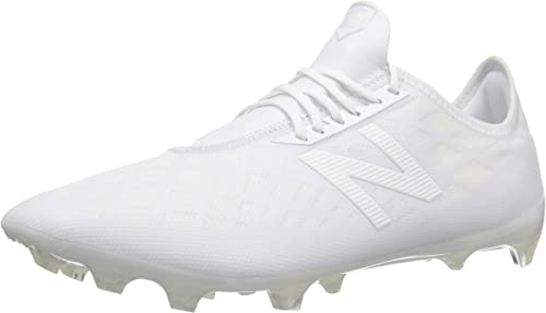 New Balance Hommes's Furon V4 Soccer chaussures, blanc, 7 D US
