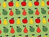 Minerva Crafts Baumwoll-Kleiderstoff, Motiv Äpfel und