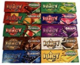 Juicy Jay 10 Pack Mixed Flavor 1 1/4 Size Flavored Rolling Paper 32 Count