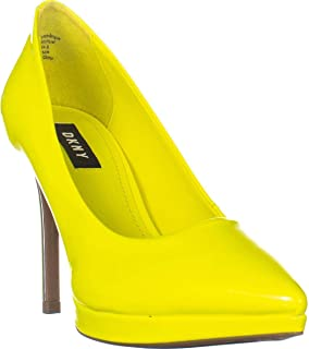 DKNY Lexi High Pumps, Neon Yellow Patent