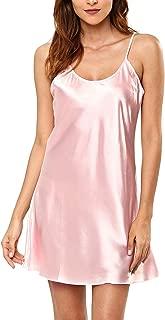KENANCY Women's Pajamas Satin Lingerie Nightgown Spaghetti Strap Sleepwear Silk Chemise Mini Slip Short Nightwear …