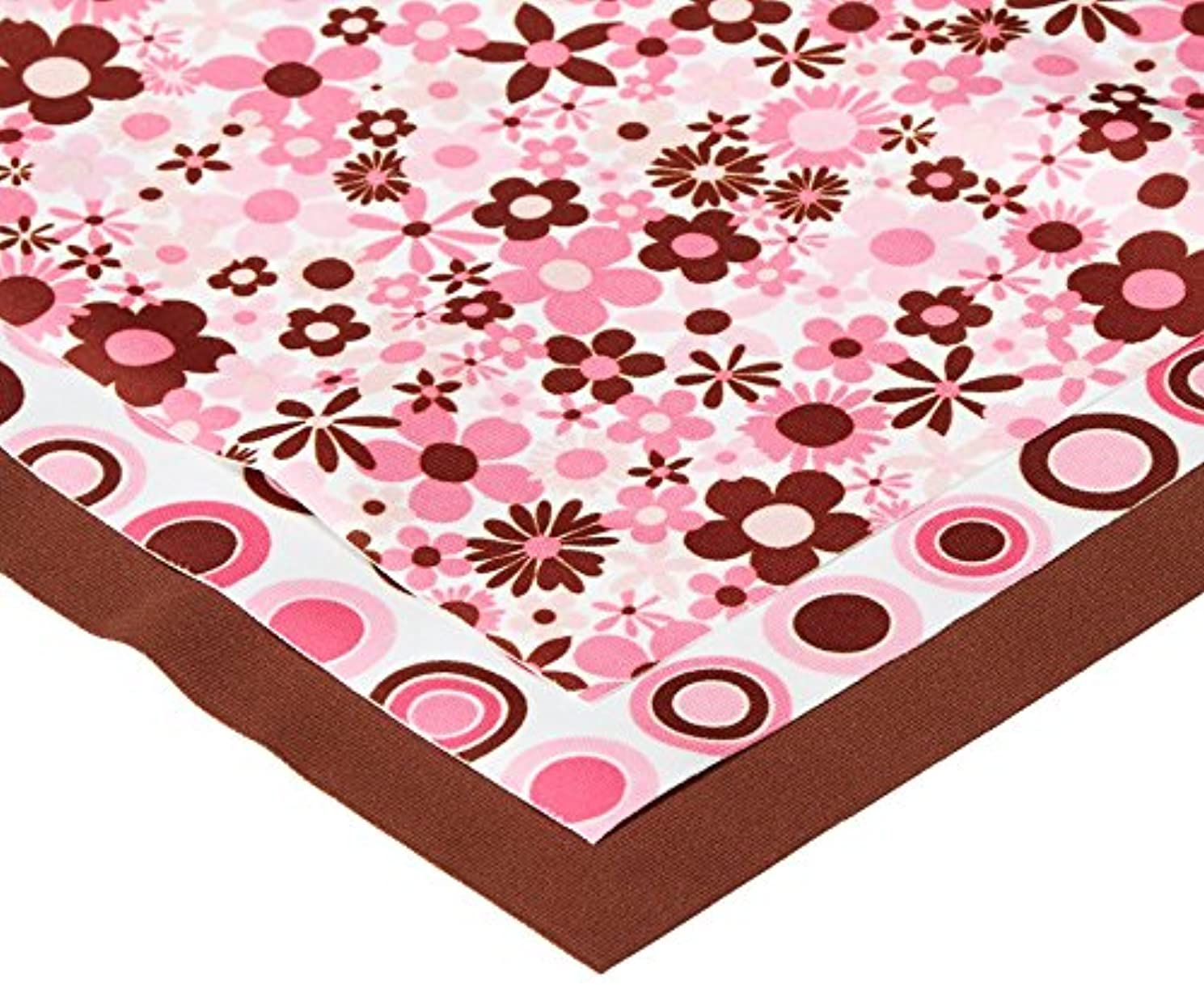 Babyville Boutique 35023 PUL Fabric, Mod Girl Flowers & Dots, 21 x 24-Inch (3-Count)