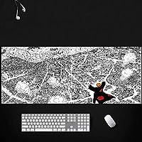 ナルトゲーミングマウスパッドラージマウスパッドマウスパッド長方形滑り止めゴム製電子スポーツ特大マウスパッドゲーミングラップトップコンピューター30X80CM-E_900*400*3MM