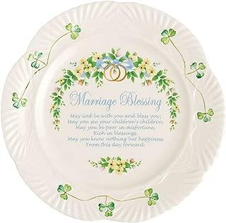 belleek wedding blessing plate