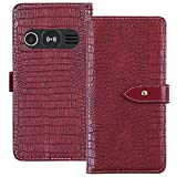 TienJueShi Red Luxury Flip Stand Leather TPU Silicone Phone