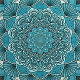 Juego de adhesivos decorativos para azulejos, diseño de simetría, color turquesa, azul azulado, arte psicodélico, artes...