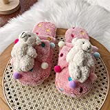 House Shoes Light Weight Terry Cloth Winter Home Slippers Women Indoor Warm Slippers 40-41 3