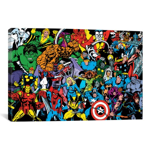 iCanvasART Marvel Comic Book Character Full Lineup by Marvel...