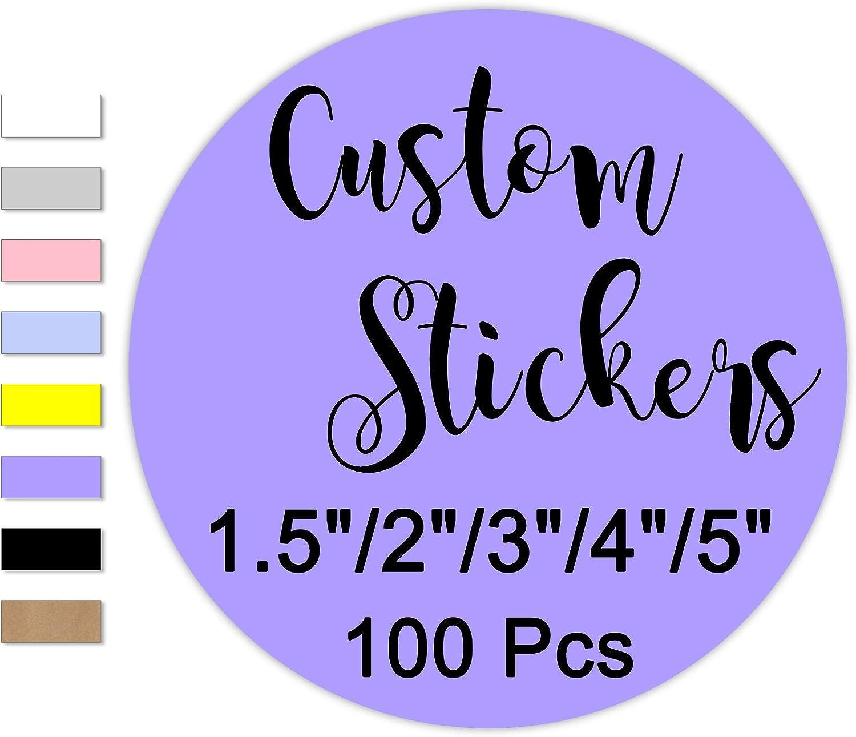 100 Custom Round Stickers 新作からSALEアイテム等お得な商品 満載 with 4