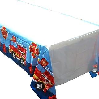 سفره های کامیون آتش نشانی Blue Orchards (2) ، لوازم مهمانی برای ماشین های آتش نشانی ، رویدادهای آتش نشان