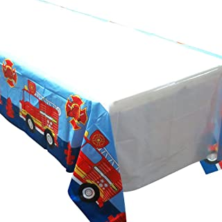 firefighter tablecloth