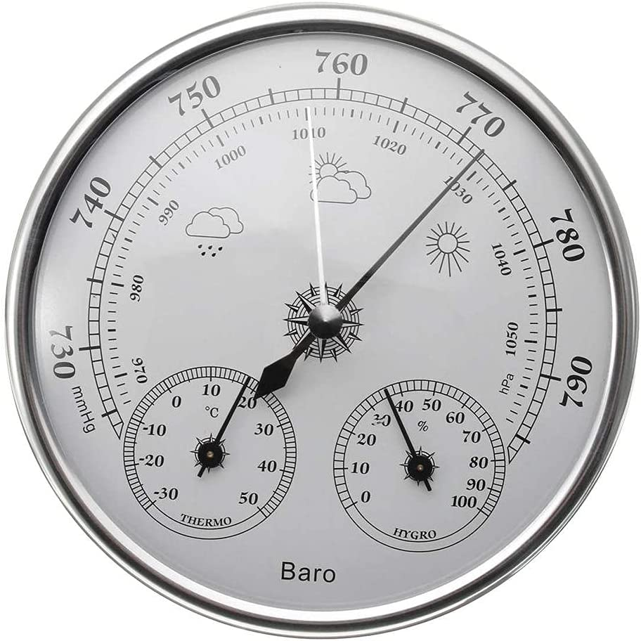 BAWAQAF Barometer Wall-Mounted Household Three-in-on Outlet sale feature Recommended