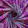 momomus arazzo da parete grande mandala - telo mare indiano, etnico - 100% cotone - telo arredo copridivano/copritutto, pareo, multiuso (Viola, 210x230 cm) #4