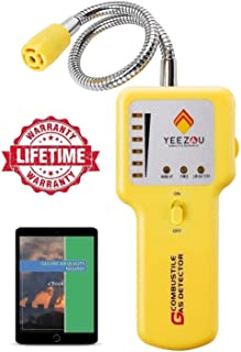 Y201 Propane and Natural Gas Leak Detector; Portable Gas Sniffer to Locate Gas Leaks of Combustible Gases like Methane, LP...