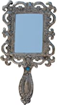 Handicrafts Paradise Hand Mirror in Metal