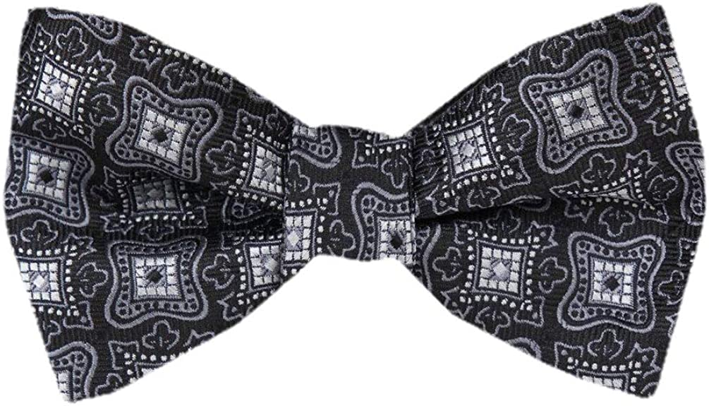 FBTT-12245 - Mens Black Self Tie Bow Tie XL for Men Big and Tall Bows