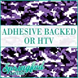 Digital CAMO Pattern in PURPLE Urban Camouflage Heat Transfer or Adhesive Vinyl CHOOSE YOUR SIZE!