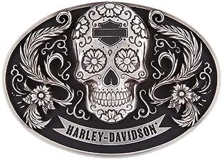 Harley-Davidson Women's Vida Skull Belt Buckle, Polished Silver HDWBU11503