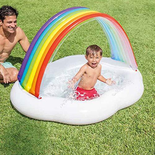 Aufblasbarer Pool Für Kinder Regenbogen-babybecken, Baby-schwimmbecken, Kinder-planschbecken-142cmx119cmx84cm