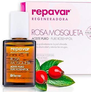Repavar Regeneradora Aceite Rosa Mosqueta 100% Puro. 15ml, Transparente