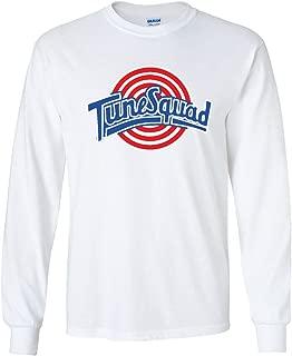 The Silo Long Sleeve White Spacejam Tunesquad Jordan Front & Back T-Shirt