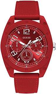Guess Mens Quartz Watch, Analog Display and Silicone Strap W1256G4