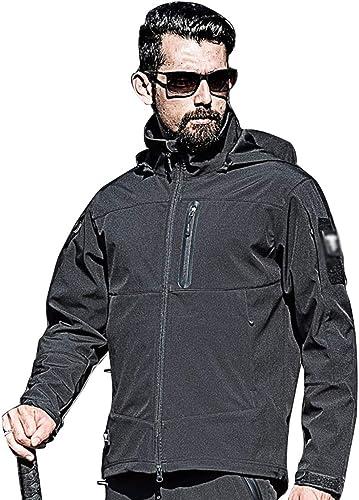 GLJJQMY Veste de Camouflage pour Homme et Femme Imperméable Coupe-Vent Noir, Plastique, S(50kg-60kg)