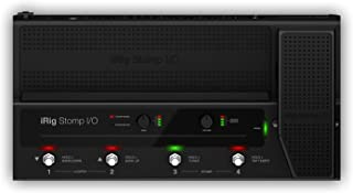iRig Stomp I/O - Pedalera controlador USB que integra una interfaz de audio para Mac, PC, iPhone y iPad