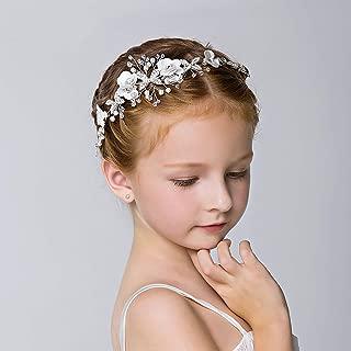 Luvehandicraft Bridal Headbands Wedding Hair Accessories for Brides Butterfly Hair Piece Flower Headband for Flower Girls