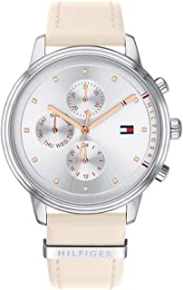 Tommy Hilfiger Blake Women's Silver Dial Leather Band Watch - 1781906