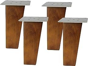 Houten vervangende bankpoot, trapeziumvormige houten meubelpoten, vervangende kastvoeten, bedpoten, salontafelvoeten, voor...