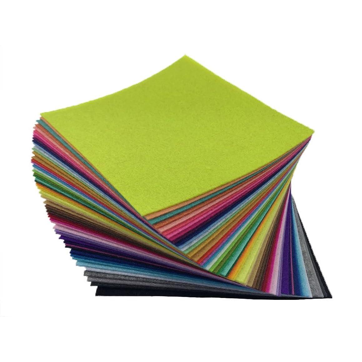 flic-flac 54pcs Felt Fabric Sheet Assorted Color Felt Pack DIY Craft Squares Nonwoven (30cm30cm)