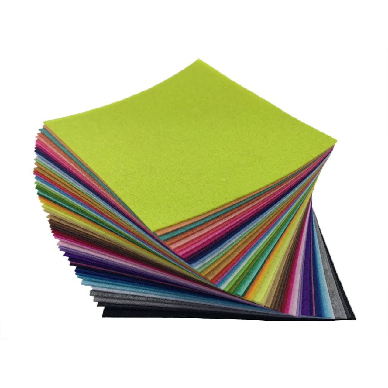 flic-flac 54pcs Felt Fabric Sheet Assorted Color Felt Pack DIY Craft Squares Nonwoven (30cm30cm)