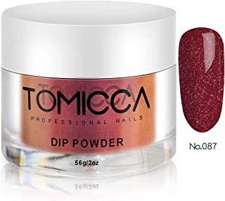 TOMICCA Nail Dipping Powder Dip Powder (Glitter Red)