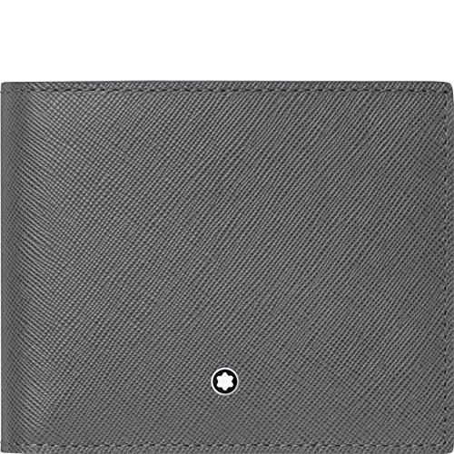 Montblanc Montblanc Sartorial Cartera 6 CC Tarjetero 12 cm, Gris (Gris) - 113218
