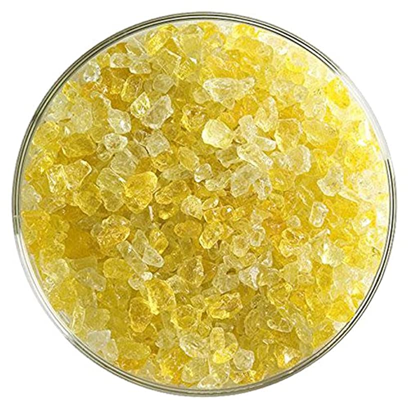Marigold Yellow Transparent Fusible Glass Coarse Frit - 4oz - 90COE - Made From Bullseye Glass