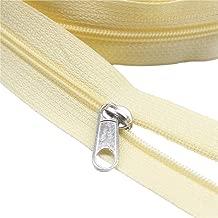 ByaHoGa Cremallera Continua para Ropa de Cama Color Blanco 9 m, Cremallera Blanca, 6 mm, 25 Cremalleras no Lock