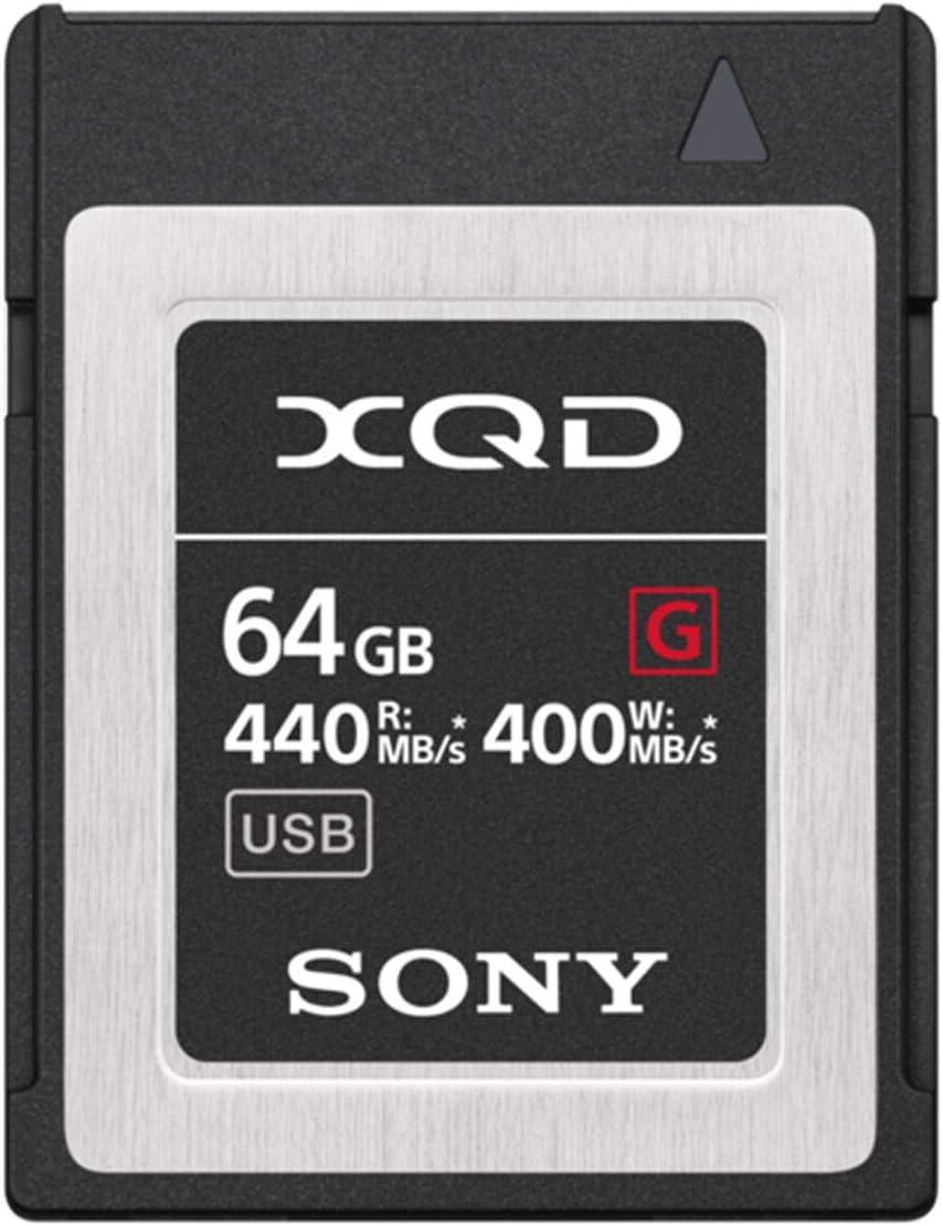 Sony QDG64F/J XQD - Tarjeta de Memoria (64 GB, XQD, 440 MB/s)