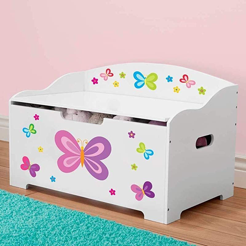Dibsies Modern Expressions Toy Box White Butterfly