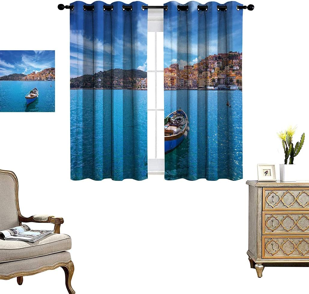 Sea Decor Blackout Curtain Wooden Small Old Santo in Porto Spring new work Boat Max 84% OFF