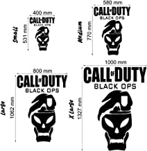 Call of Duty Black Ops - Wall Decal Art Sticker Boy's Bedroom playroom Hall (Color: Metallic Silver Size: Large)