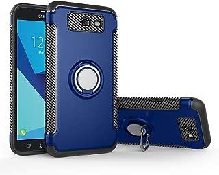 Case for Samsung SM-J727R4 SM-J727U J7 2017 / SM-J727A Galaxy J7 Sky Pro/SM-J727S Galaxy Wide 2 / SM-J727V Galaxy J7 V SM-J727VPP Case Cover + 360 Degree Rotating Ring Holder Kickstand Blue